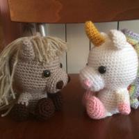 Cavallo e unicorno all'uncinetto - Giovanna T.